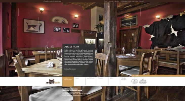 Projekt: Angus Farm - Návrh webových stránek