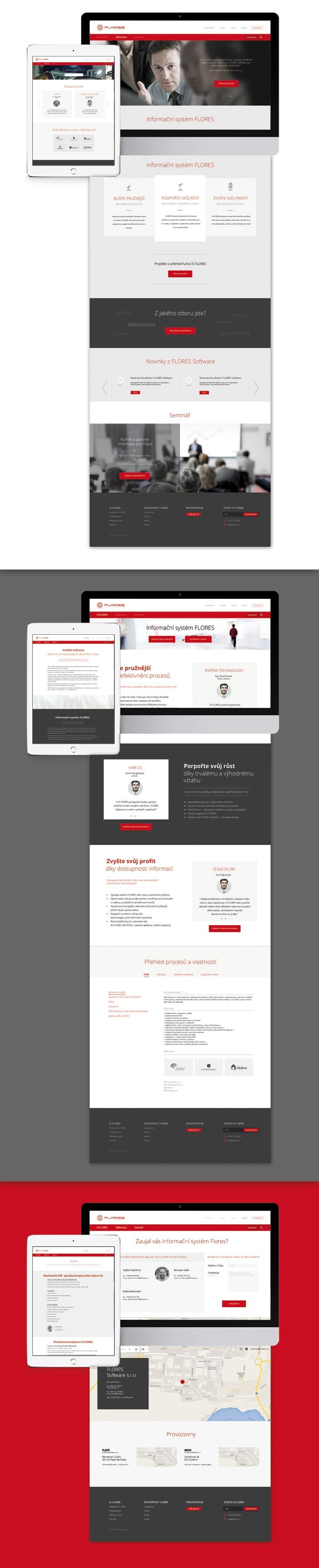 Projekt: Flores - Grafický a UX design