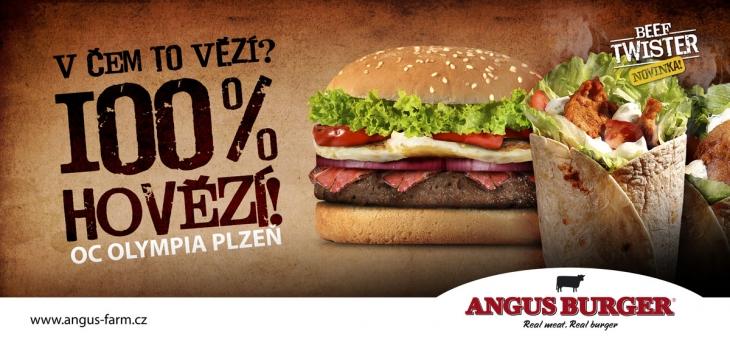 Projekt: Angus Burger - Reklamní kampaň