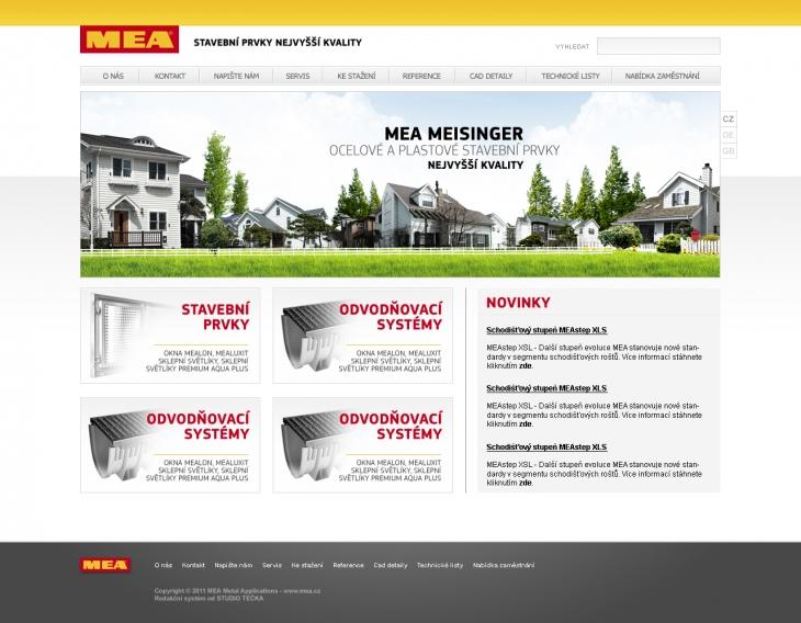 Projekt: MEA - Návrh webových stránek