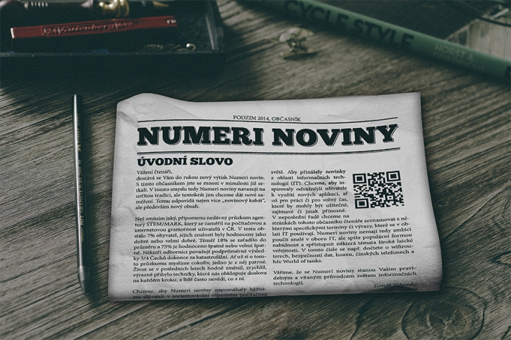 Projekt: Numeri noviny
