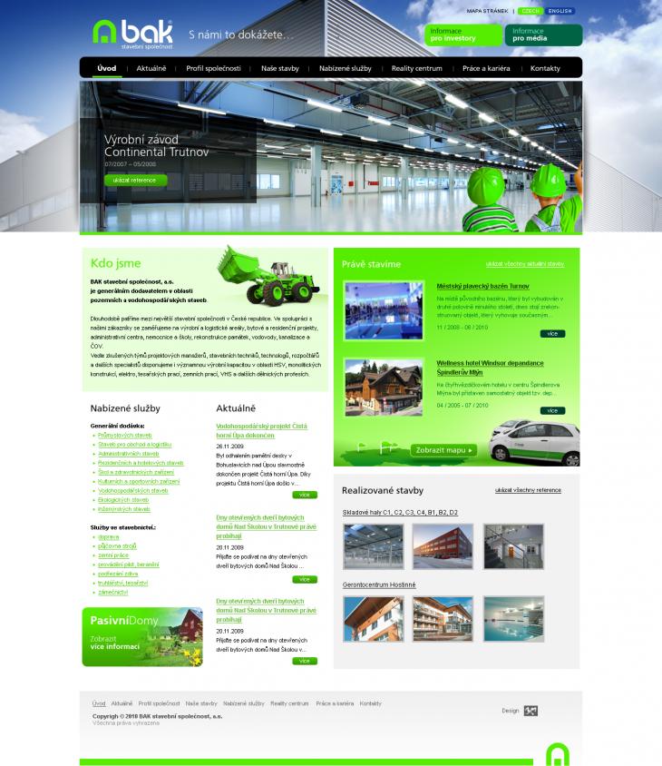 Projekt: BAK stavební společnost, a.s.