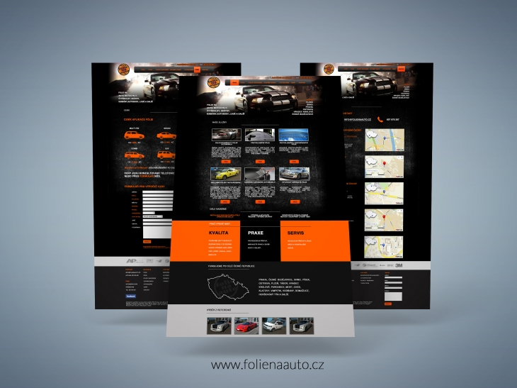 Projekt: Web www.folienaauto.cz