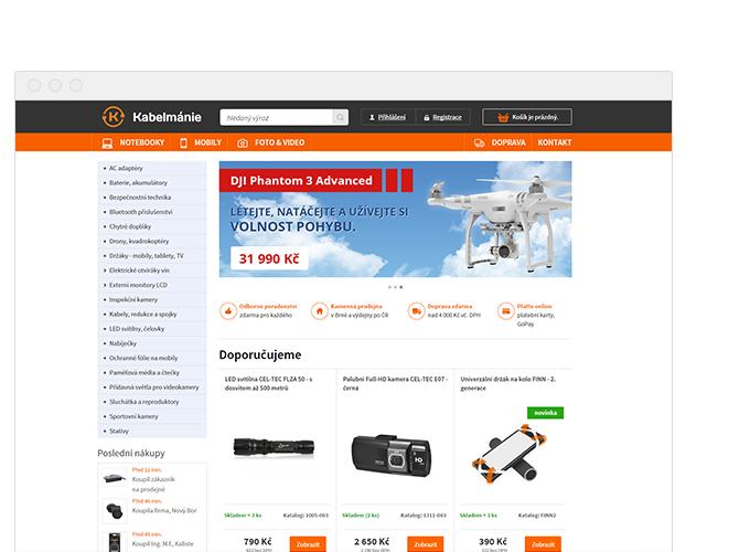 Projekt: Kabelmánie.cz