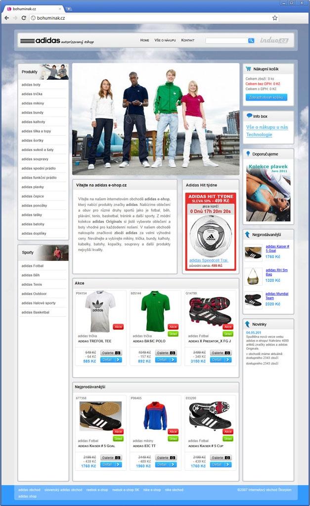 Projekt: Adidas e-shop