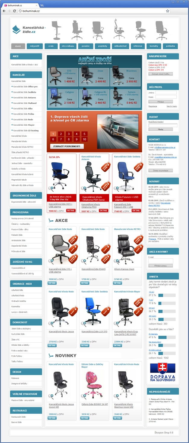 Projekt: E-shop Kancelářská židle