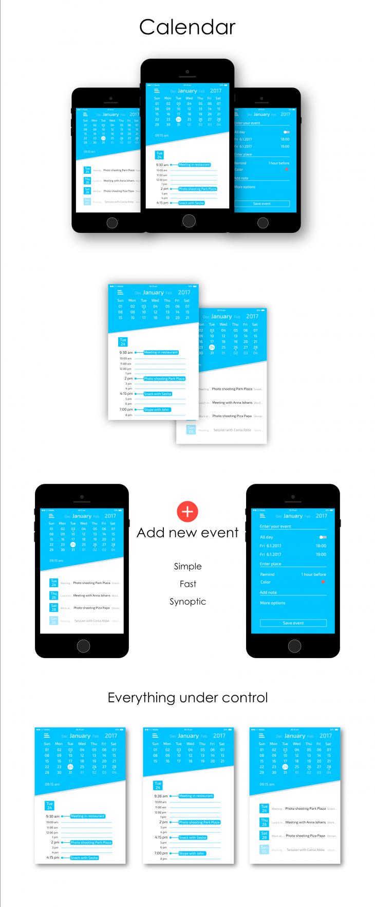 Projekt: Kalendář (aplikace pro mobilní zařízení)