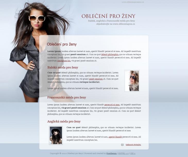 Projekt: Oblečení pro ženy