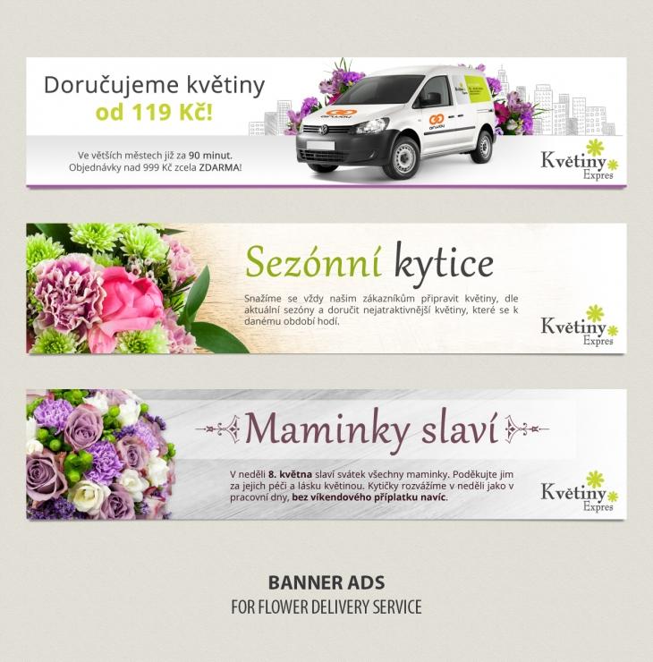 Projekt: Bannery Květiny Express