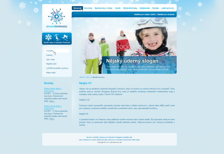 Projekt: Ski areál Čenkovice