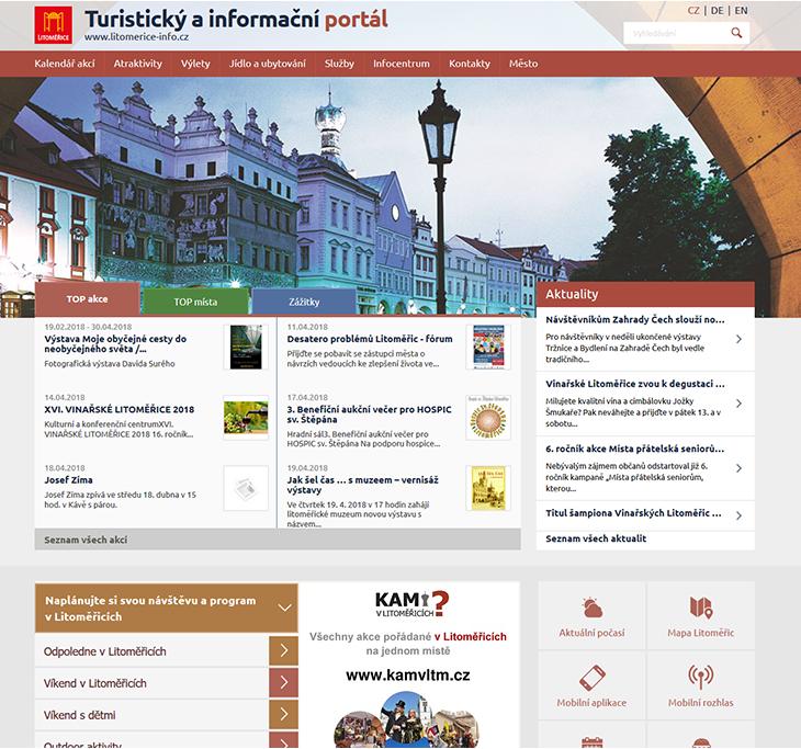 Projekt: Turistický a informační web (litomerice-info.cz)