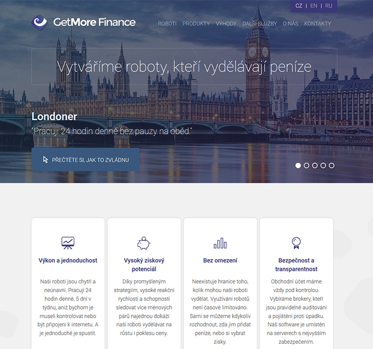 Projekt: GetMore Finance (gmf.cz)