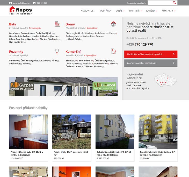 Projekt: Finpos - realitní kancelář (rkfinpos.cz)