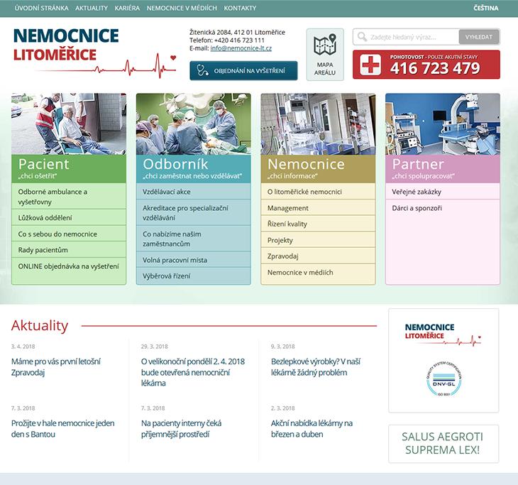 Projekt: Nemocnice Litoměřice (nemocnice-lt.cz)