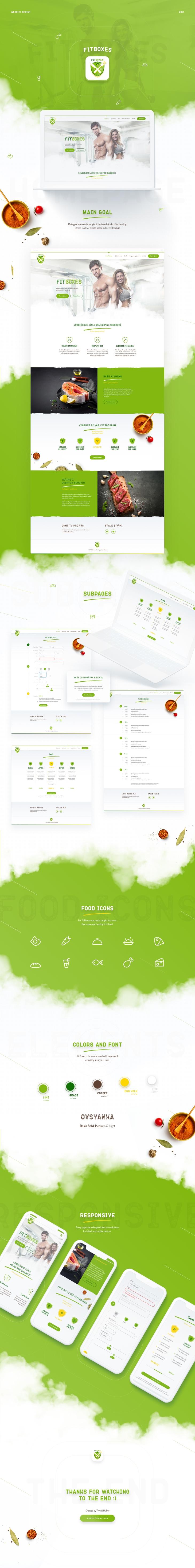 Projekt: FitBoxes webdesign