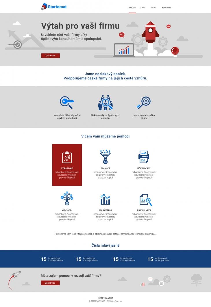 Projekt: Startomat - Domovská stránka