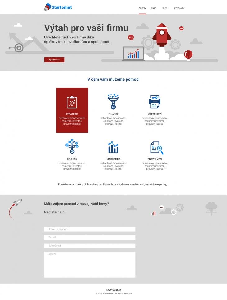 Projekt: Startomat - Služby