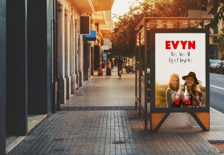 Projekt: Cityposter pro láhev EVYN