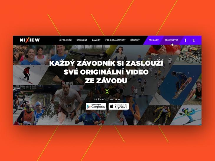 Projekt: Mixiew web header
