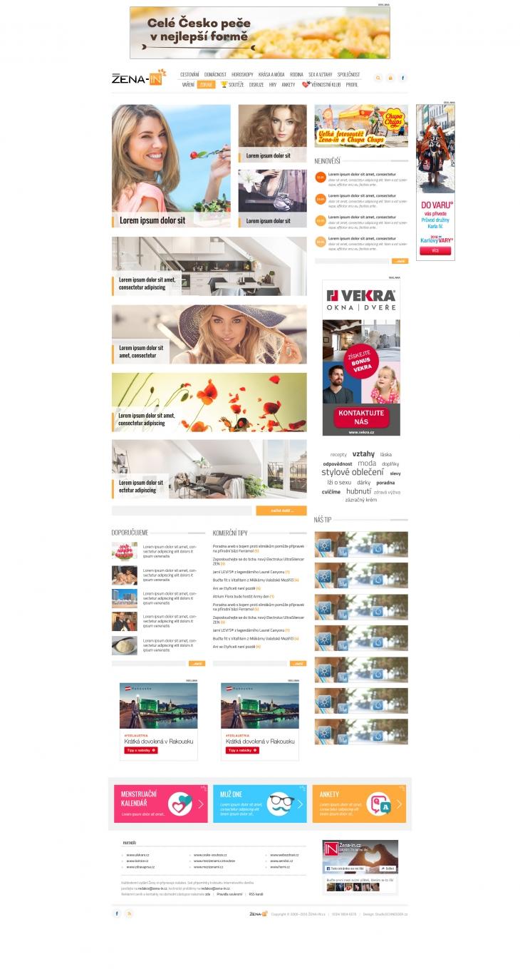 Projekt: Grafický návrh www - server ŽENA-IN