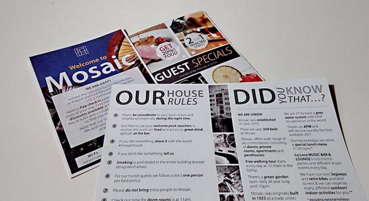Projekt: Leták pro Mosaic House