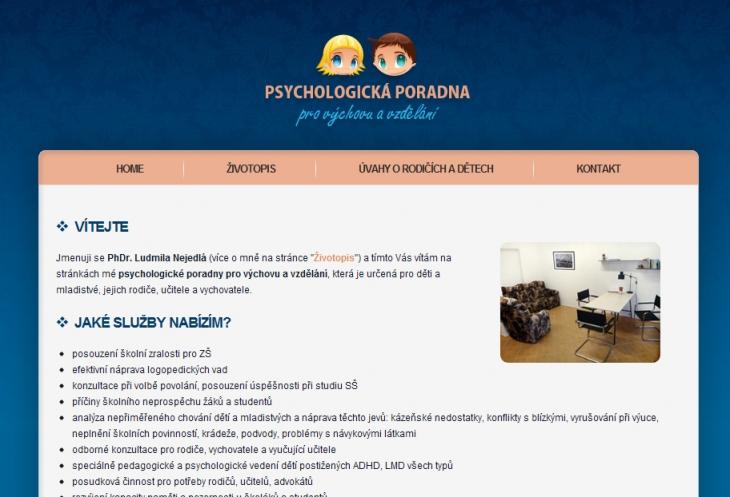 Projekt: Psychologická poradna