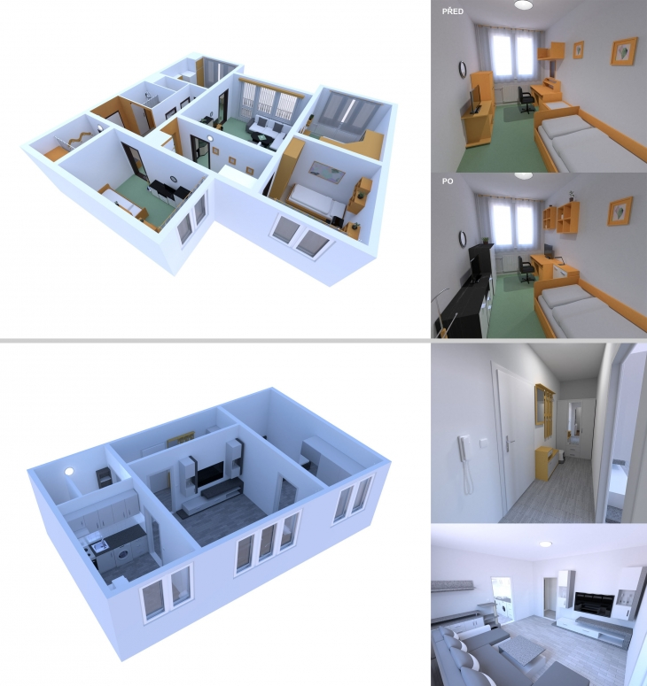 Projekt: Interiérová 3D vizualizace
