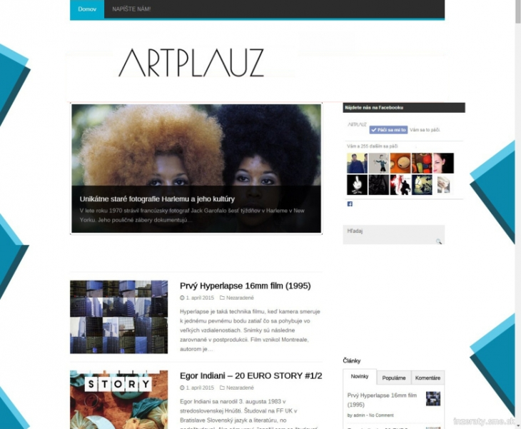 Projekt: Artplauz.sk