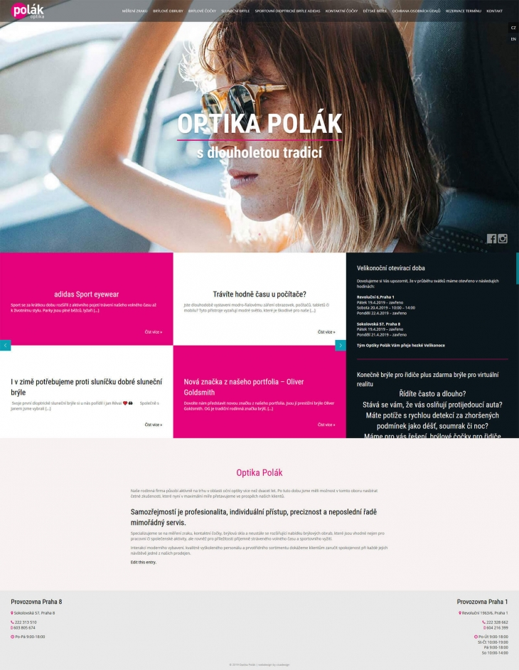 Projekt: Optika Polák