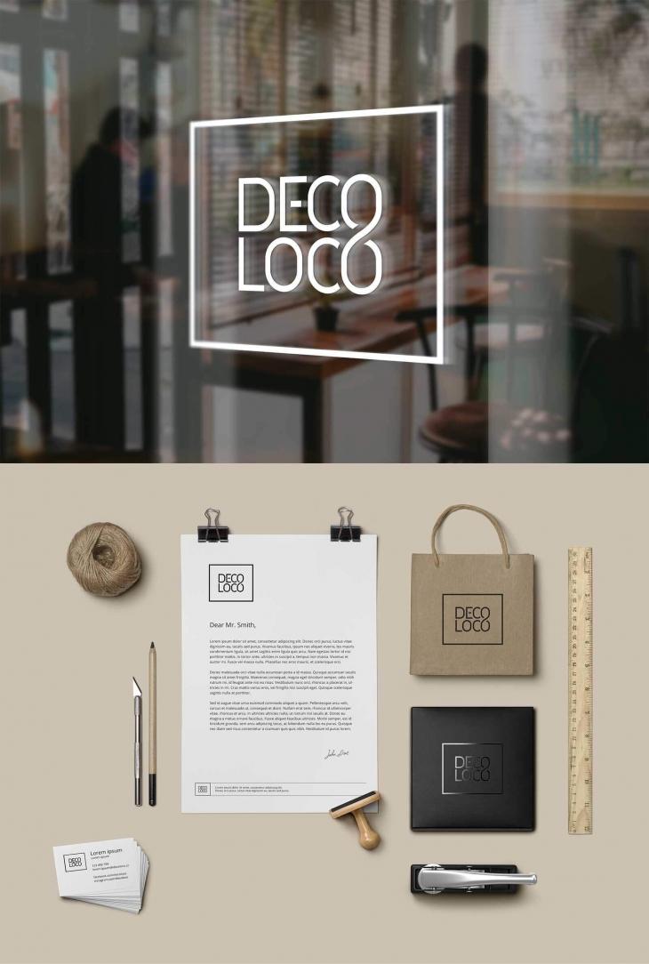Projekt: logo pro showroom DECO LOCO