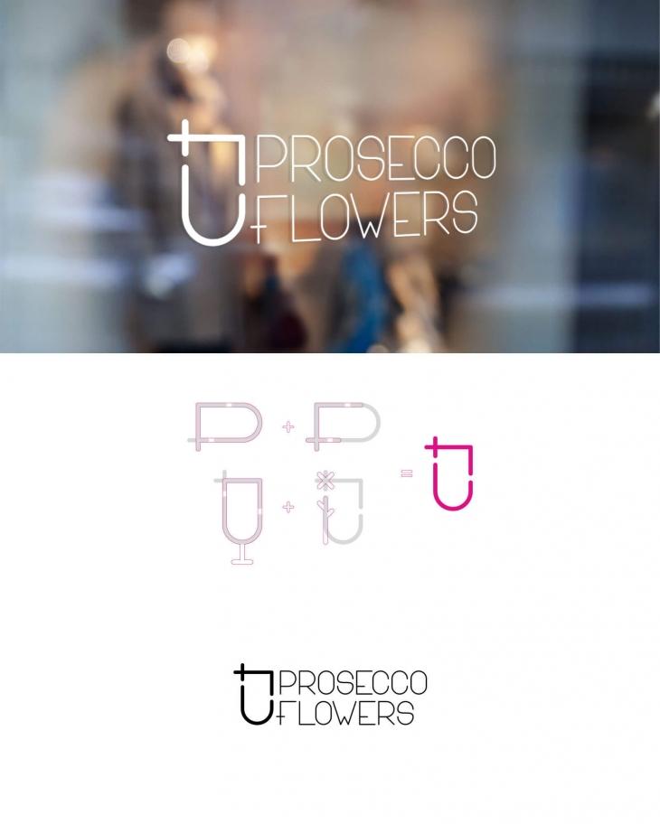 Projekt: Logo pro firmu PROSECCO&FLOWERS