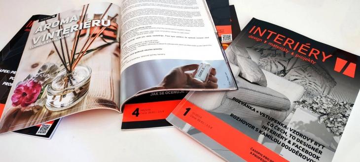 Projekt: Design magazínu INTERIÉRY