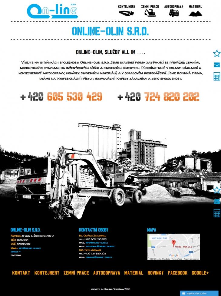 Projekt: Redesign webu stavební firmy
