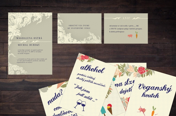 Projekt: svatební oznámení