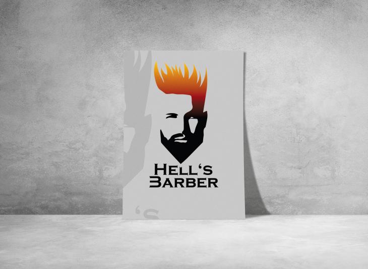 Projekt: Návrh loga Hell's Barber