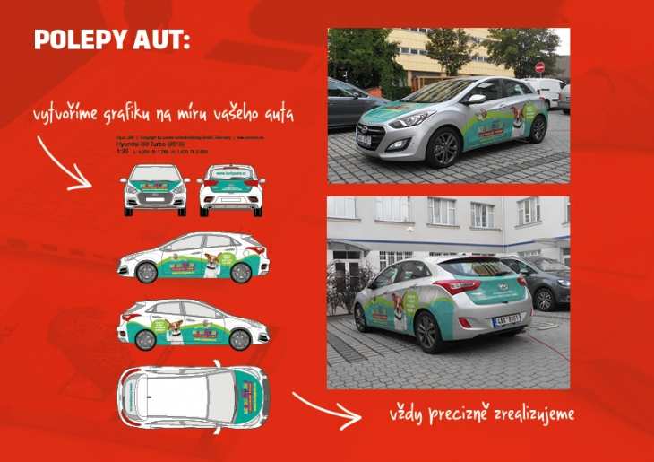 Projekt: polepy aut