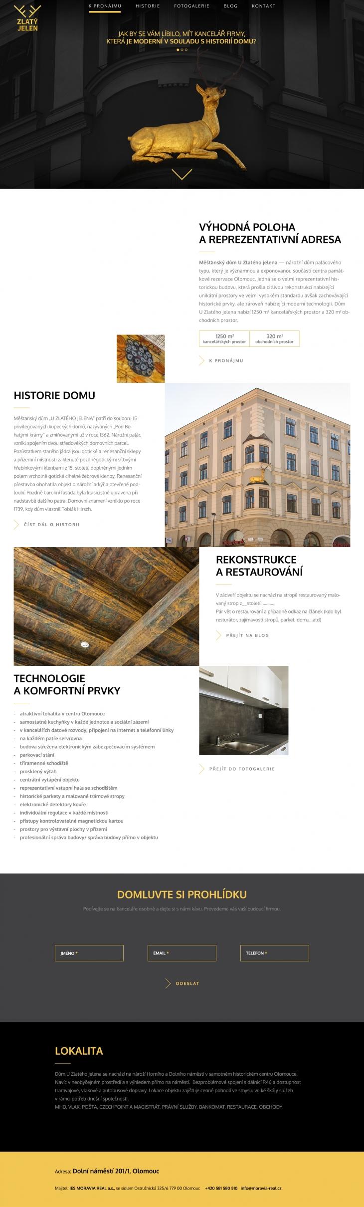 Projekt: Logo a web / dům U Zlatého jelena