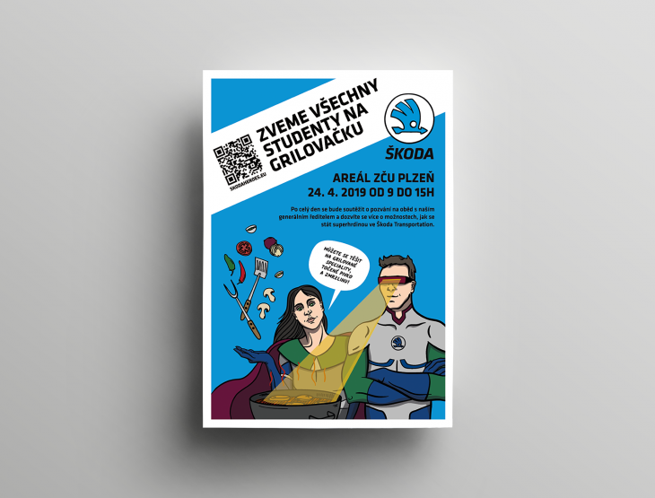 Projekt: Grafika pro HR kampaň Škody Transportation