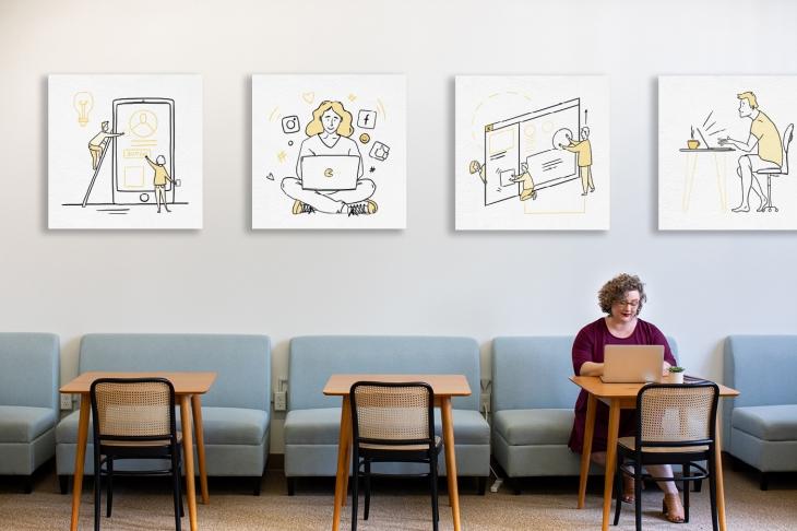 Projekt: Ilustrace pro Vzdělávací centrum Nicom
