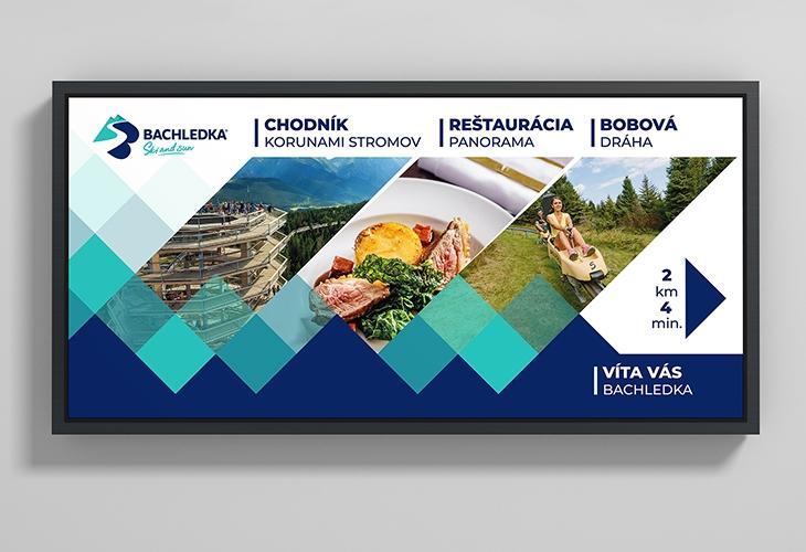 Projekt: Bachledka reklamní banner