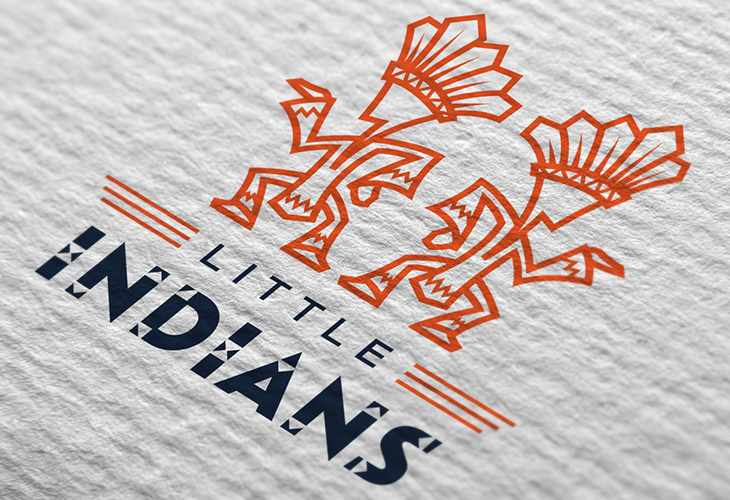 Projekt: Koncept loga LITTLE INDIANS