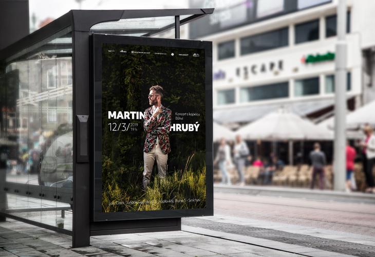 Projekt: Plakát pro koncert Martin Hrubý v Jazz Dock