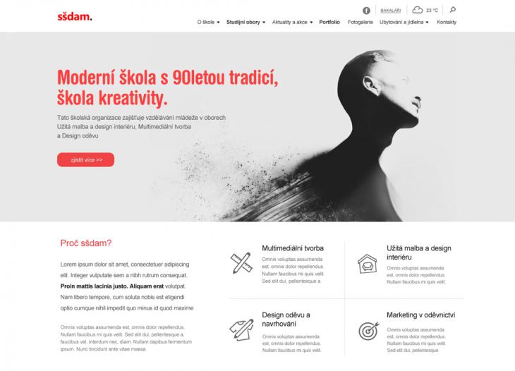 Projekt: Webové stránky střední školy