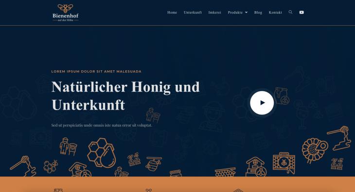 Projekt: Webové stránky včelařství