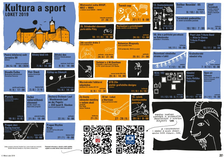 Projekt: Leták kulturního přehledu města Loket