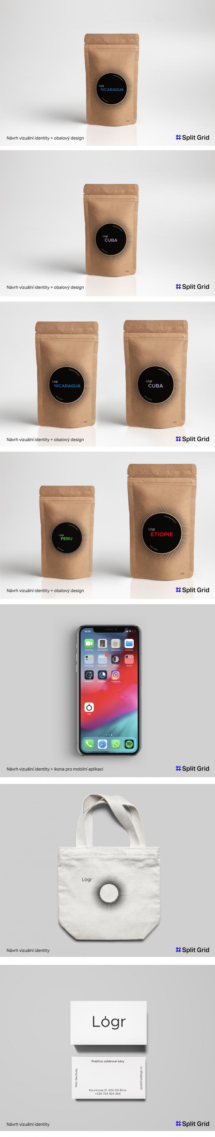 Projekt: Vizuální identita pro pražírnu kávy Lógr