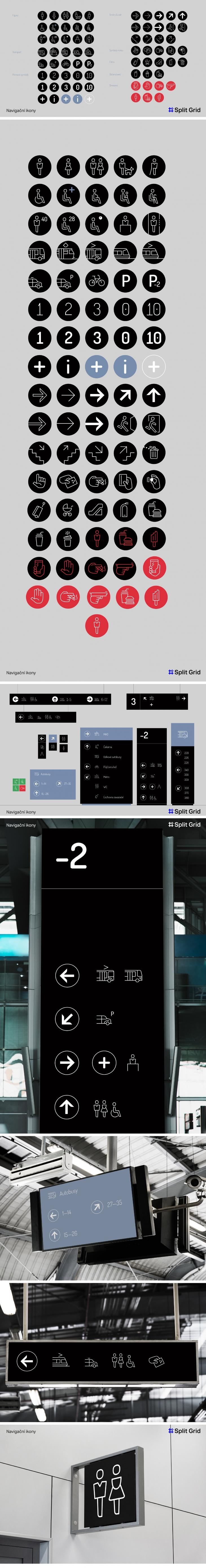 Projekt: Navigační ikony
