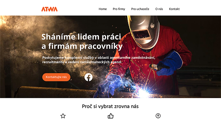 Projekt: Web Atwa home