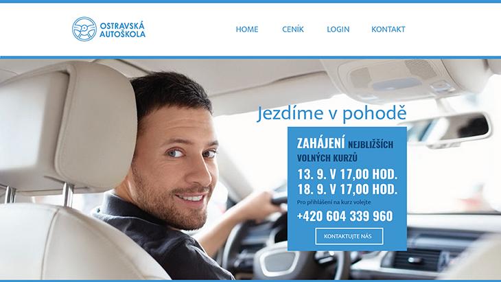 Projekt: Web Ostravská autoškola home