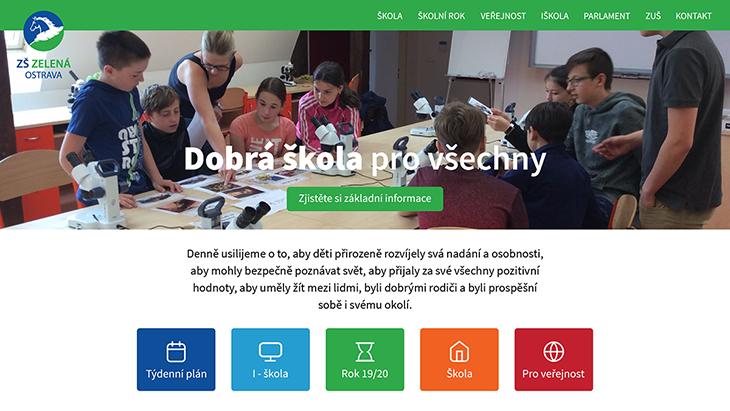 Projekt: Web Škola Zelená home